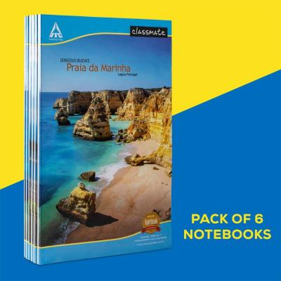 Longbook,33x21cm,160 pages,Single Line(Pack of 6)